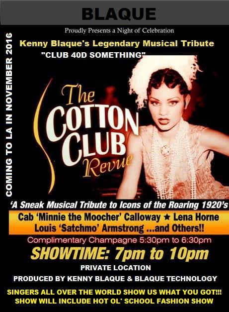 Kenny Blaque Cotton Club